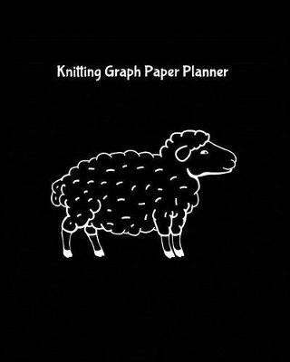 Knitting Graph Paper Planner  Design Notebook, Blank Knitter Patterns Book, 23 Ratio, Hand Drawn Sheep on Black