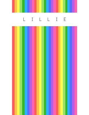 Lillie  Personalized rainbow sketchbook with name 120 Pages