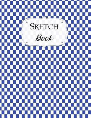 Sketch Book  Checkered Sketchbook Scetchpad for Drawing or Doodling Notebook Pad for Creative Artists Blue White