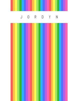 Jordyn  Personalized rainbow sketchbook with name 120 Pages