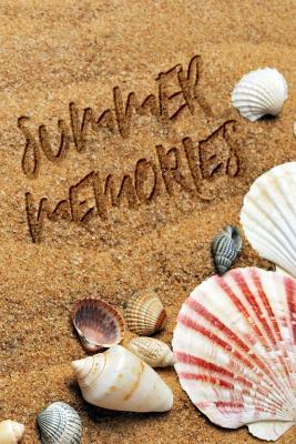 Summer Memories  Draw and Write Blank Boxed Area and Blank Lined Paper for Creating Your Own Trip Log Notebook Beach Sand and Shells