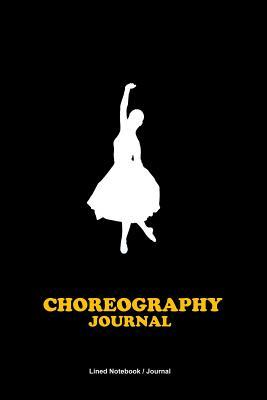 Choreography journal  Dance training log lined notebook to write in - Dancers gift idea