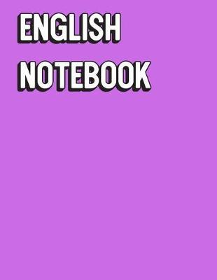English Notebook  Solid Purple Color Wide Ruled Line Paper, Perfect for College Elementary Grade School for Note Taking or Homework