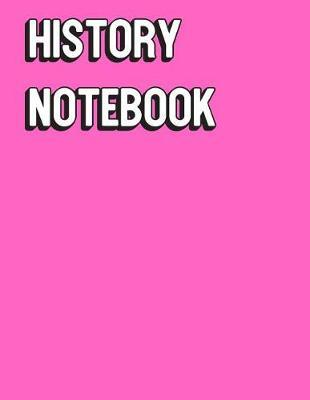 History Notebook  Solid Pink Color Wide Ruled Line Paper, Perfect for College Elementary Grade School for Note Taking or Homework