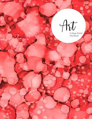 Art  College Ruled Notebook - Red