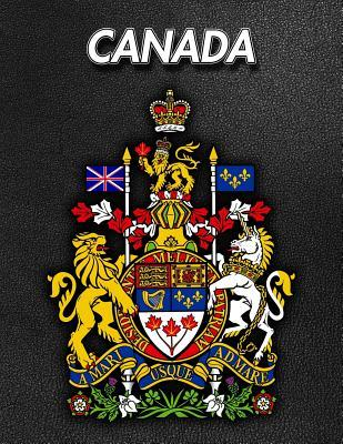 Canada  Coat of Arms - 2020 Weekly Calendar - 12 Months - 107 pages 8.5 x 11 in. - Planner - Diary - Organizer - Agenda - Appointment - Half Spread Wide Ruled Pages