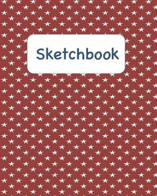 Sketchbook  Red Sketchbook with White Stars for Adults and Kids of All Ages