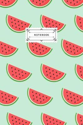 Notebook  Watermelon Slices Lined Journal Notebook, 120 pages (6x9)