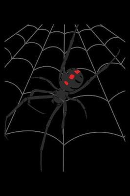 Journal  Halloween Scary Spider Web Deadly Spider's Web Black Lined Notebook Writing Diary - 120 Pages 6 x 9