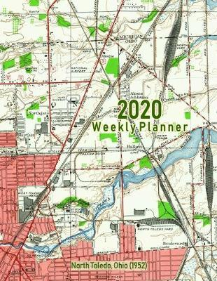 2020 Weekly Planner  North Toledo, Ohio (1952) Vintage Topo Map Cover