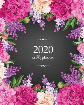 2020 Weekly Planner  Calendar Schedule Organizer Appointment Journal Notebook and Action day With Inspirational Quotes lilac and peonies