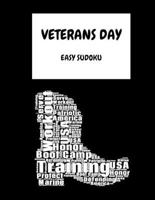 Veterans Day Marine  100 Easy Puzzles In Large Print Veterans Day