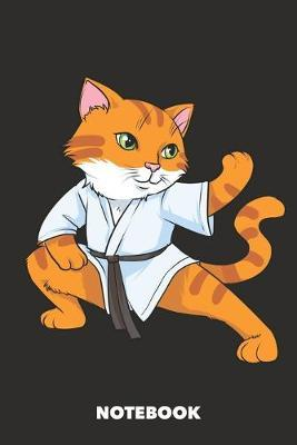 Notebook  Karate Cat 6 x 9 inch lined - 120 pages for Creative Cat Lovers