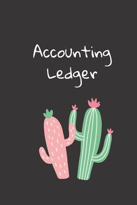 Accounting Ledger  Simple Account Tracker, Simple Checking Accounting Ledger, Simple Cash Book, Personal Account Book, 6 x 9 inches, 105 pages