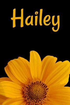 Hailey  Personalized Journal Diary Notebook For Women To Write In Sunflower College Ruled Lined 120 Pages, 6 x 9