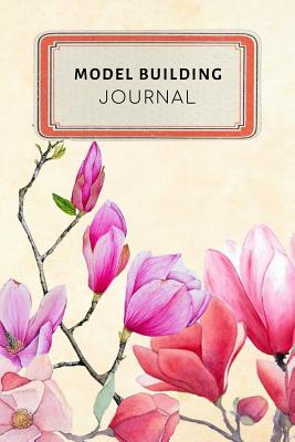 Model Building Journal  Vintage Floral Dotted Grid Bullet Journal Notebook - 100 Pages 6 X 9 Inches Log Book