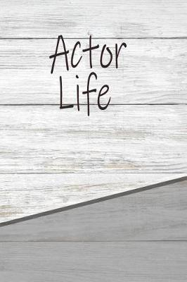Actor Life  Personalized Journal, Notebook Lined Pages 120 Pages 6x9