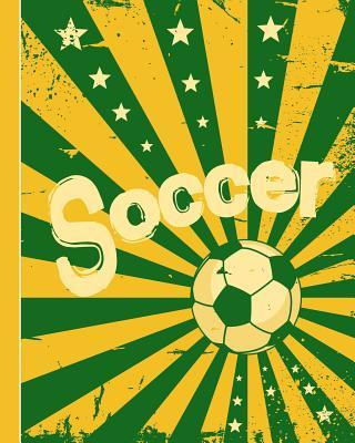 Soccer  8x10 100 Pages Lined Composition Notebook