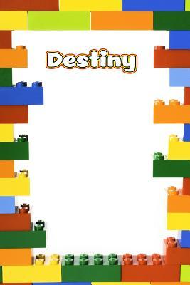 Destiny  Building Brick Blank Comic Book Notebook Journal Book 120 Pages 6x9