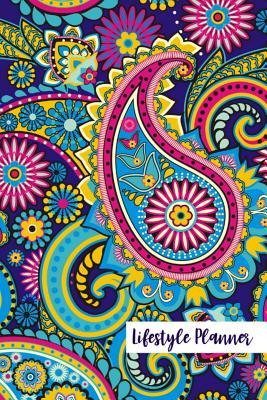 Lifestyle Planner  Paisley Pattern 52 Weeks Daily Planner Weekly Organizer, No Dates, Blank and Easy to Get Organized