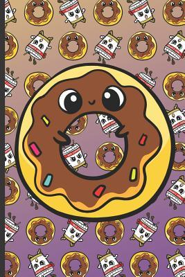 Happy Donut and Running Coffee Notebook  Note Book and Journal for Writing, Deep Thoughts, Creative Thinking, Work Planning, Business Notes and for School Activities