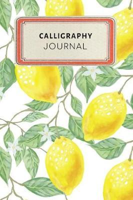Calligraphy Journal  Cute Yellow Lemon Tropical Dotted Grid Bullet Journal Notebook - 100 Pages 6 X 9 Inches Log Book