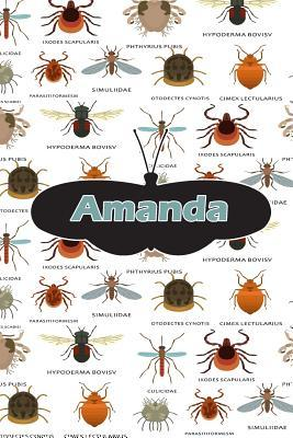 Amanda : Bug Insect Journal Notebook 120 Pages 6x9