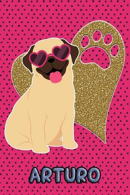 Pug Life Arturo  College Ruled Composition Book Diary Lined Journal Green