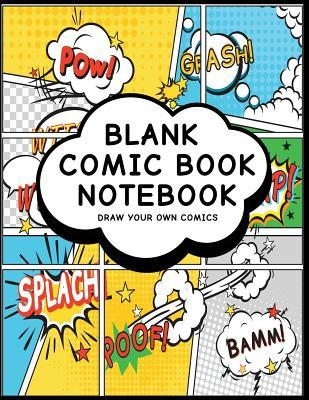 Blank Comic Book Notebook  Comic Design (16) - Create Your Own Comic Book Strips, Variety of Templates For Comic Book Drawing