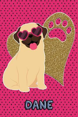 Pug Life Dane  College Ruled Composition Book Diary Lined Journal Green