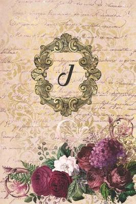 Simply Dots Dot Journal Notebook - Gilded Romance - Personalized Monogram Letter J  Dot Grid Booklet to Draw and Write Your Past, Present and Future Life Experiences.