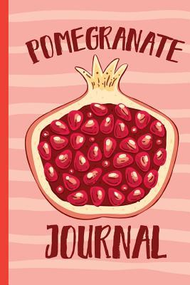Pomegranate Journal  Blank lined Notebook/120 pages/6x9