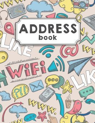 Address Book  Large Print Address Book Over 300+ For Record and Organizer Contact - Social Doodle