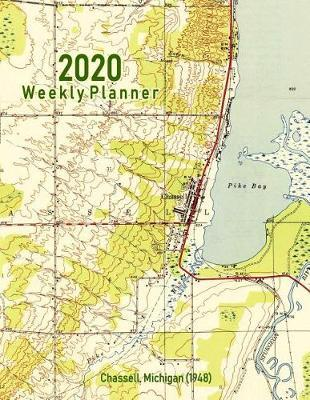 2020 Weekly Planner  Chassell, Michigan (1948) Vintage Topo Map Cover