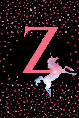 Z  Letter Z Monogram Watercolor Unicorn Notebook & Journal