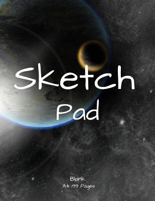 A4 Sketch Pad  8.5inX11in 200 pages Sketch, doodle and draw, a great gift sketchbook or notebook and Journal space
