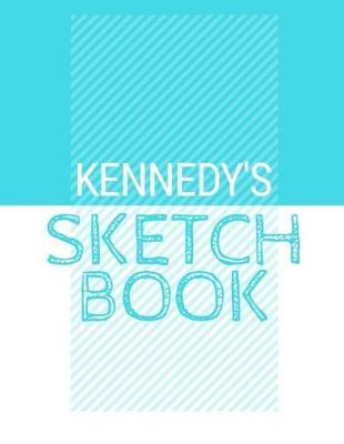 Kennedy's Sketchbook  Personalized blue sketchbook with name 120 Pages