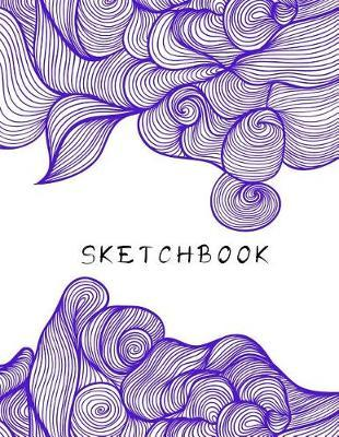 Sketchbook  Meditation Mindfulness Drawing Sketching Art Book 8.5 x 11 110 Blank Pages Purple Doodle