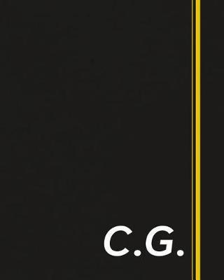 C.G.  Classic Monogram Lined Notebook Personalized With Two Initials - Matte Softcover Professional Style Paperback Journal Perfect Gift for Men and Women
