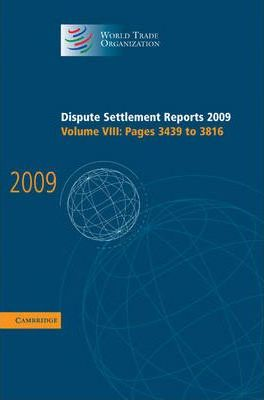 Dispute Settlement Reports 2009 Volume 8, Pages 3439-3816
