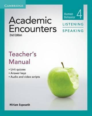 Academic Encounters Level 4 Teacher's Manual Listening and Speaking