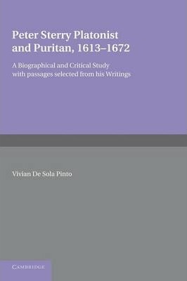 Peter Sterry  Platonist and Puritan 1613-1672