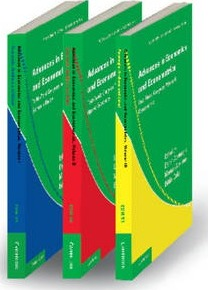 Econometric Society Monographs: Advances in Economics and Econometrics 3 Volume Paperback Set: Theory and Applications, Tenth World Congress