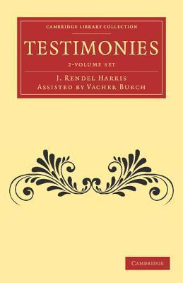 Cambridge Library Collection - Biblical Studies: Testimonies 2 Volume Set