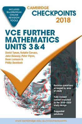 Cambridge Checkpoints: Cambridge Checkpoints VCE Further Mathematics 2018 and Quiz Me More