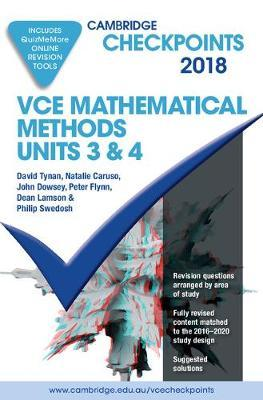 Cambridge Checkpoints: Cambridge Checkpoints VCE Mathematical Methods Units 3 and 4 2018 and Quiz Me More