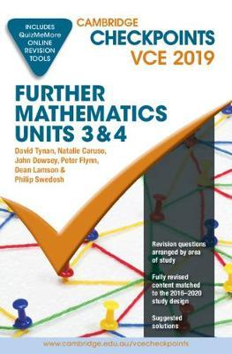 Cambridge Checkpoints: Cambridge Checkpoints VCE Further Mathematics Units 3 and 4 2019 and QuizMeMore