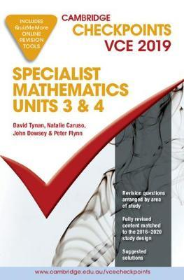 Cambridge Checkpoints VCE Specialist Mathematics 3&4 2019 and QuizMeMore