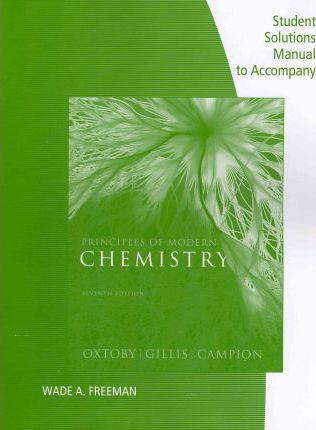 Chemistry Student Solution Manual