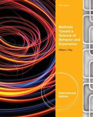 Methods Toward a Science of Behavior and Experience, International Edition